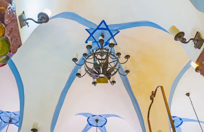 Die Decke von Ari Ashkenazi Synagogue von Safed stockbilder