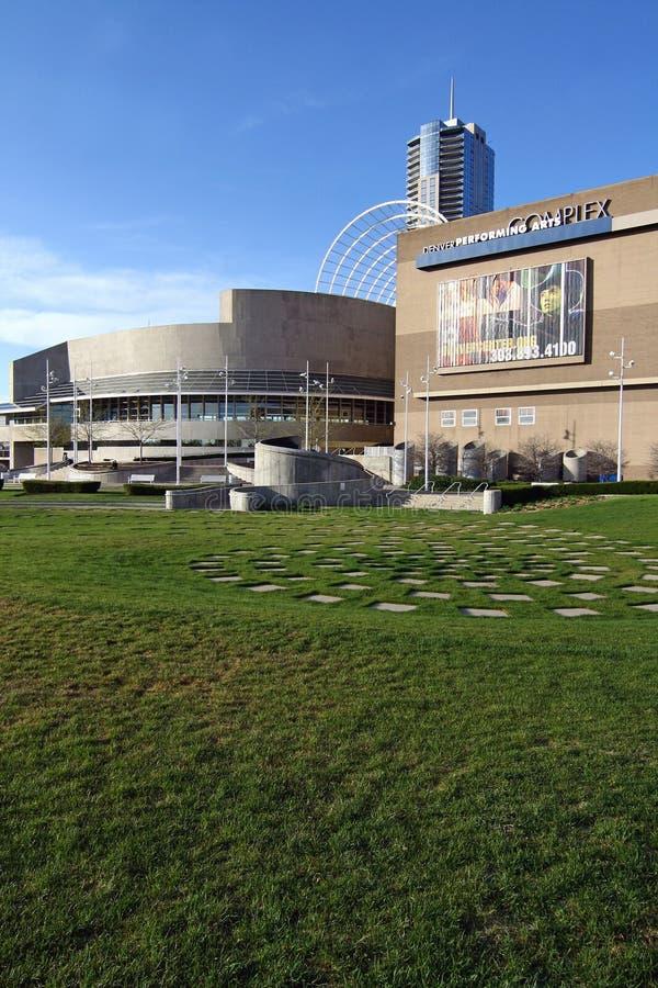 Die Denver-Mitte für die Performing Arten lizenzfreies stockbild