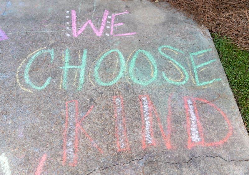 Die der Wort'wir positiven Wörter wählen Art 'der Ermutigung lizenzfreies stockbild