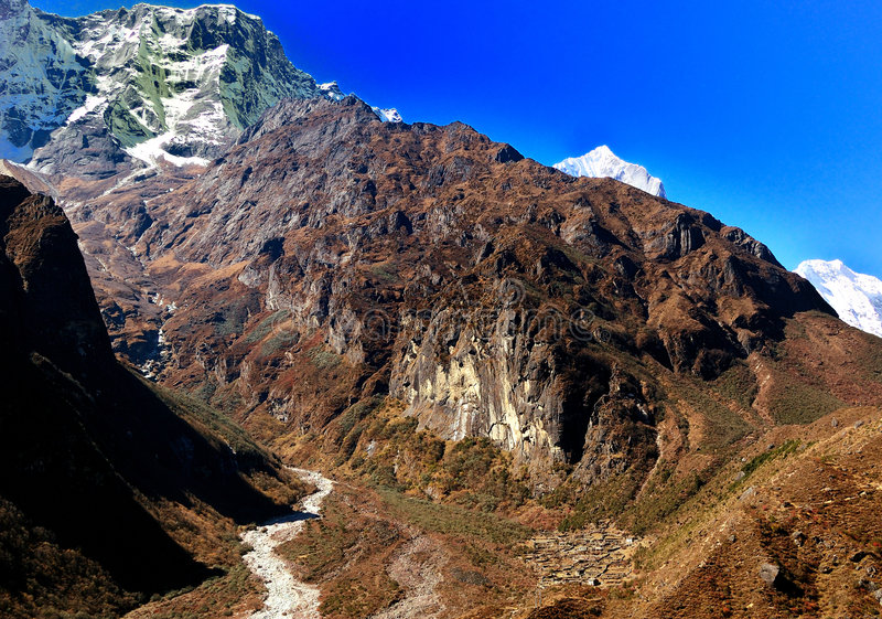Die des Himalajas Behausung lizenzfreie stockfotos