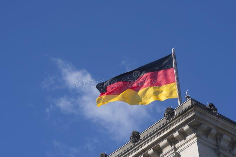 Die deutsche Flagge stockfotos