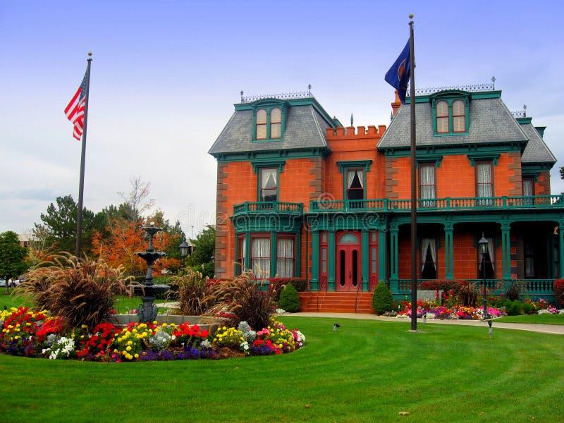 Die Deveraux Villa/das Erbe arbeitet, Salt Lake City im Garten stockfotos
