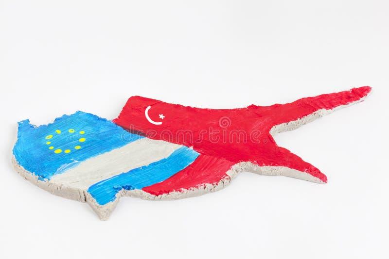 Finanzkrise Konzept-Zyperns lizenzfreies stockfoto