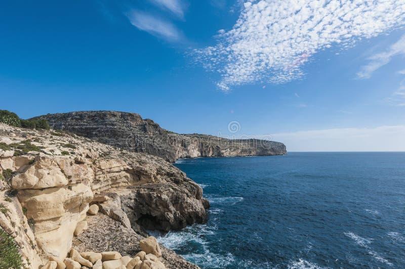 Die Dingli Klippen in Malta stockfotografie