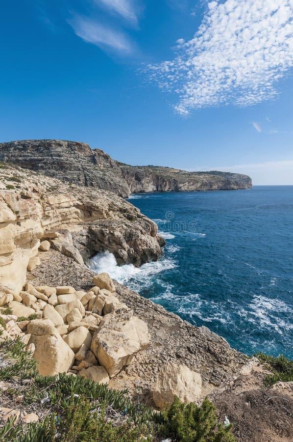 Die Dingli Klippen in Malta stockbilder