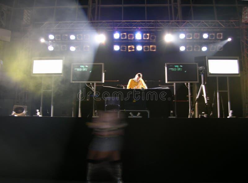 Die Diskjockey-@ Party stockfoto