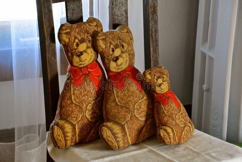 Die drei angefüllten Bären stockfotos