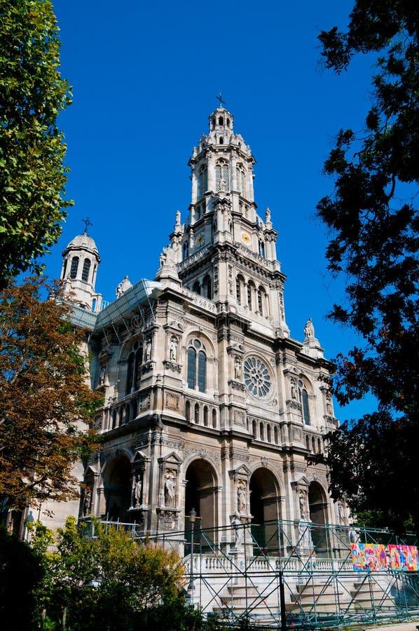 Die Dreiheit-Kirche in Paris, lizenzfreies stockfoto