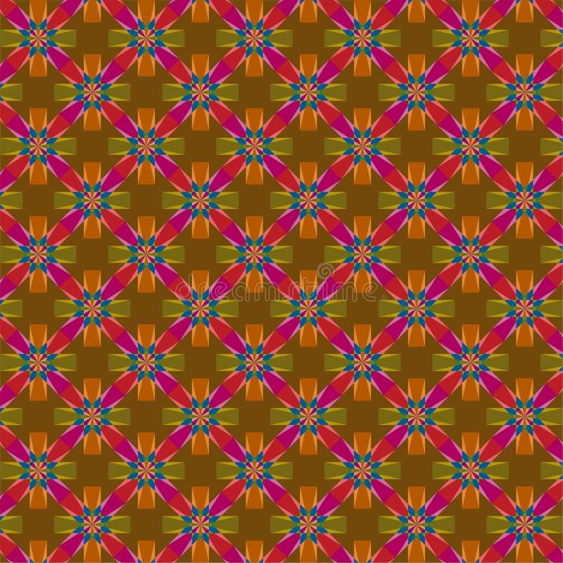 Die dunklen bunten Batik-Muster stock abbildung
