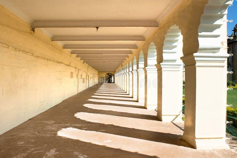 Die Durchführung des berühmten Mysore-Palastes lizenzfreie stockfotografie