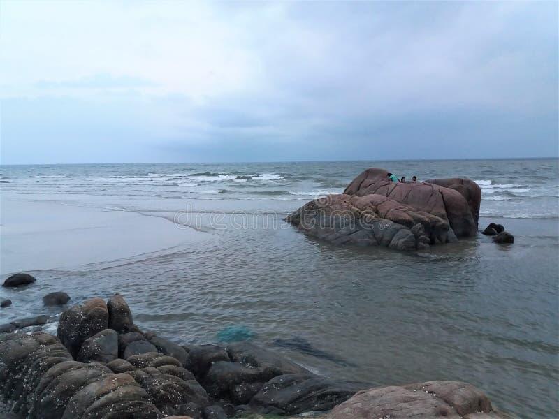 Die Ecke des Strandes stockfoto