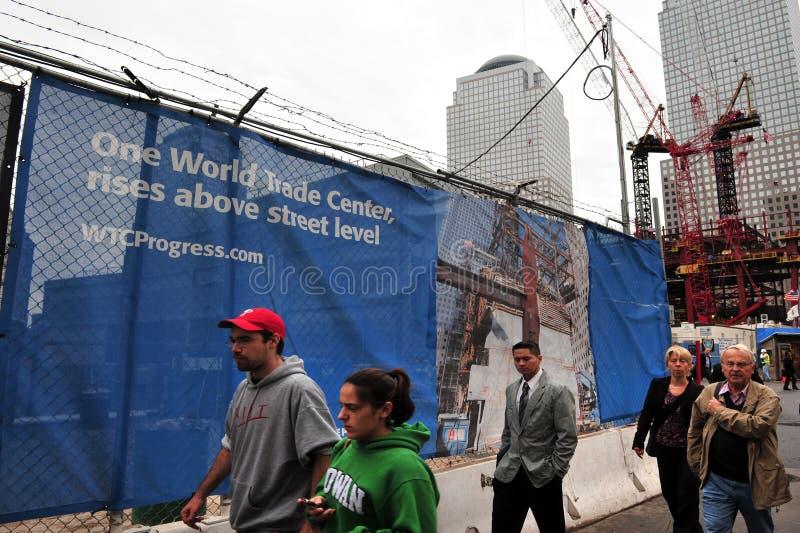 Die eine World Trade Centersite lizenzfreies stockbild