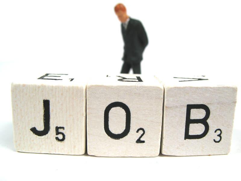 Die einsame Belastung eines Arbeitslosen lizenzfreies stockfoto