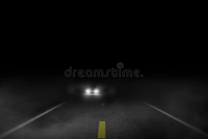 Die einsame Straße der Autobetrieb vektor abbildung
