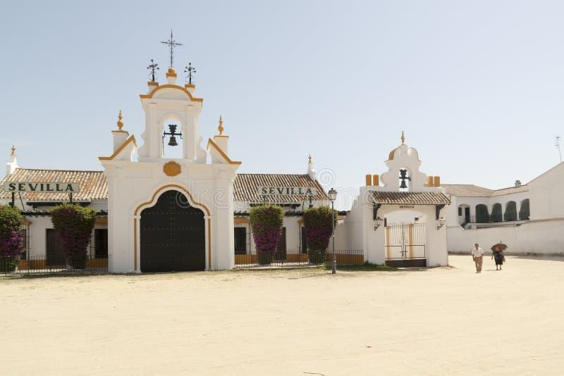 Die Einsiedlerei von EL Rocio Provinz von Huelva, Andalusien, Spanien stockfotos