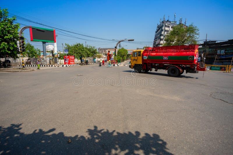 Die einst überfüllte Newmarket Foot Over Bridge ist jetzt leer in Dhaka, Bangladesh lizenzfreies stockbild