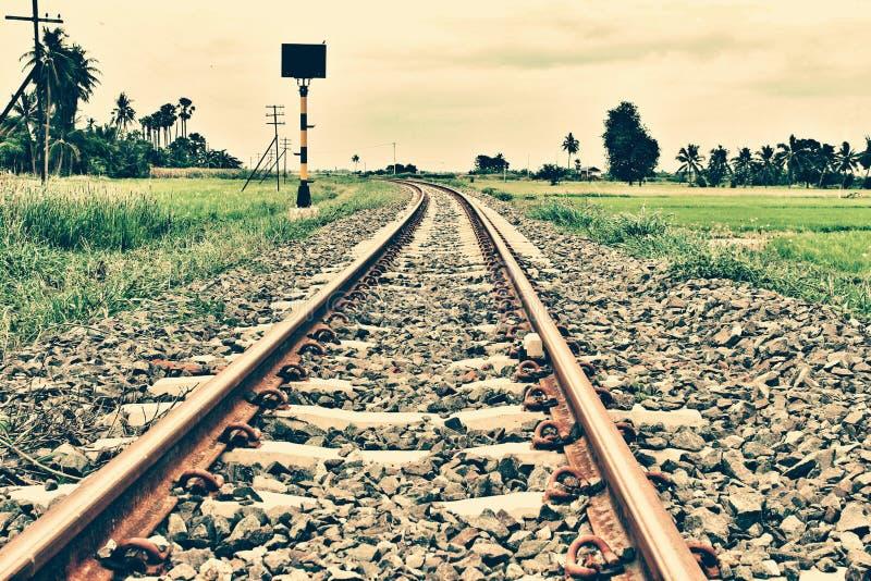 Die Eisenbahnlinie stockbild