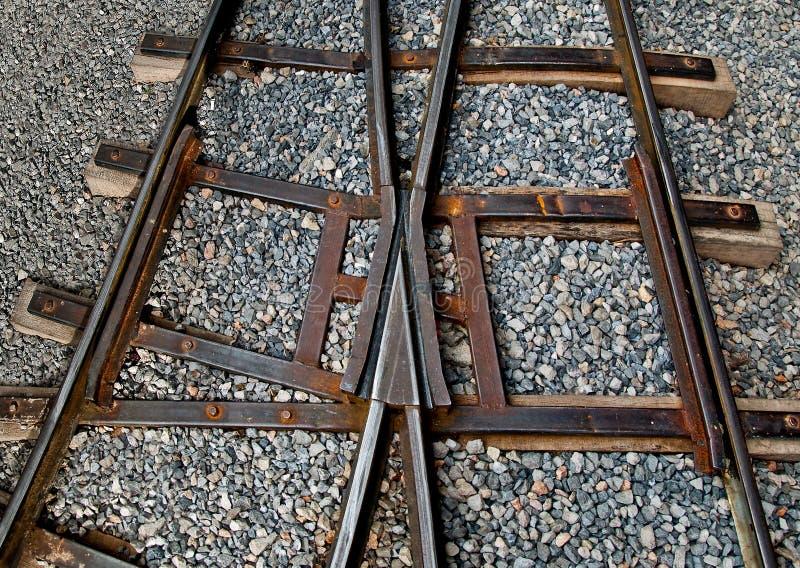 Download Die Eisenbahnlinie stockfoto. Bild von querstraße, eisen - 26370062