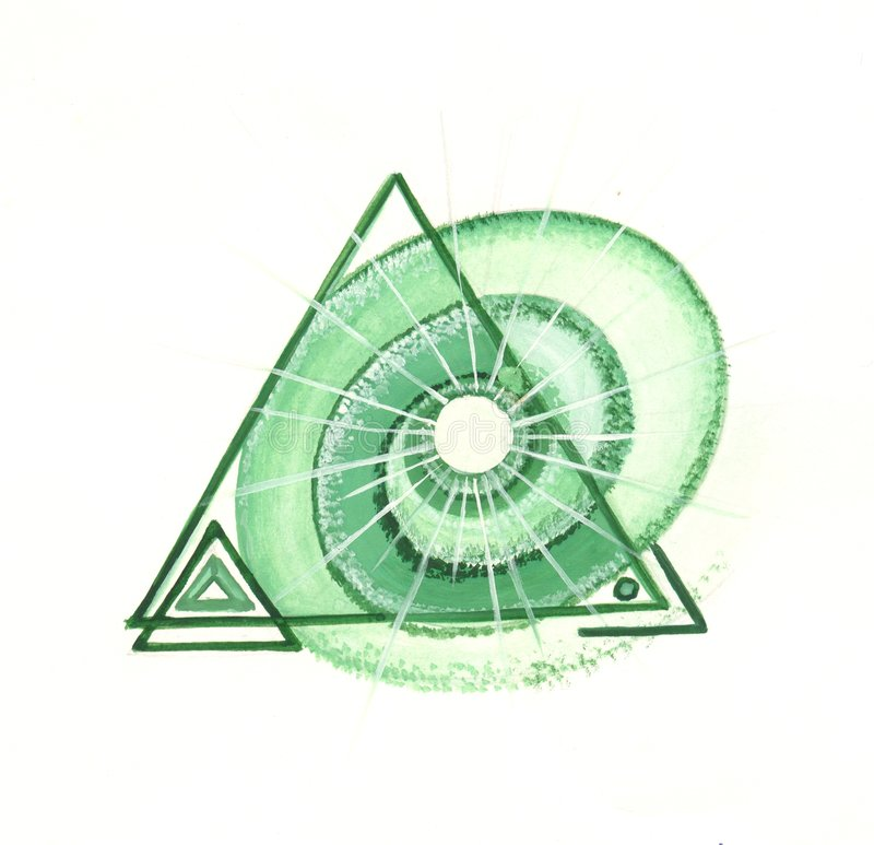 Die Energie des grünen Dreiecks stock abbildung
