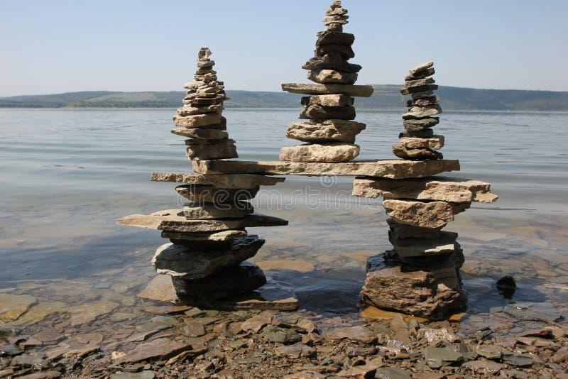 Die Energie von Steinen stockbild