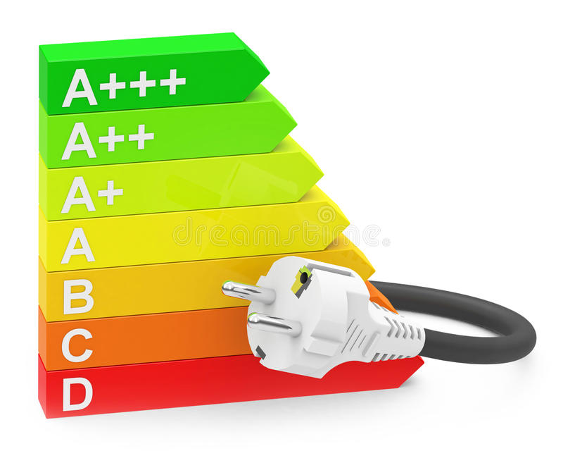 Die Energieeffizienz vektor abbildung