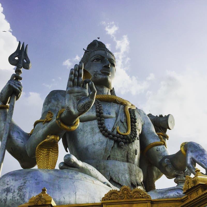 Die enorme Skulptur von Lord Shiva bei Murudeswar stockfotografie