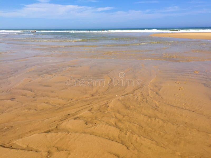 Die enormen atlantischen Strände Süd- West- Halbinsel Frankreichs Cap Ferret, Süd- West-Frankreich lizenzfreie stockfotos