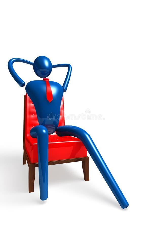 Die entspannende Person vektor abbildung