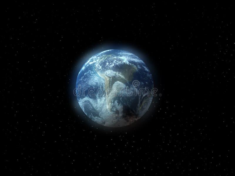 Die Erde im Platz stock abbildung