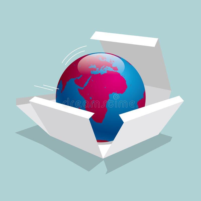 Die Erde ist im Kasten stock abbildung