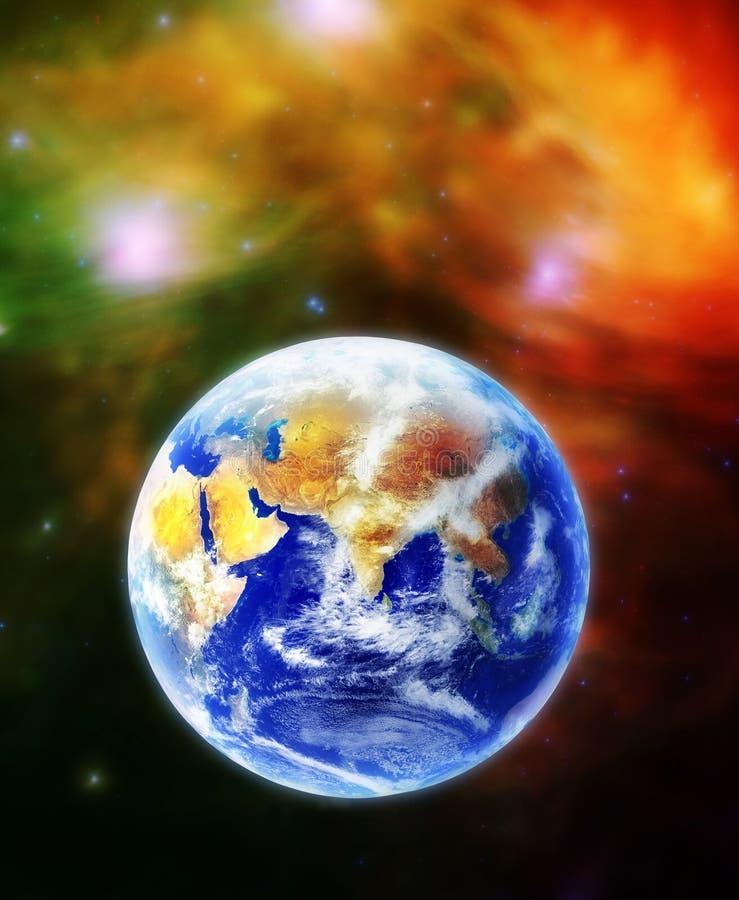 Die Erde, unser Hauptplanet Terra im Platz lizenzfreie abbildung