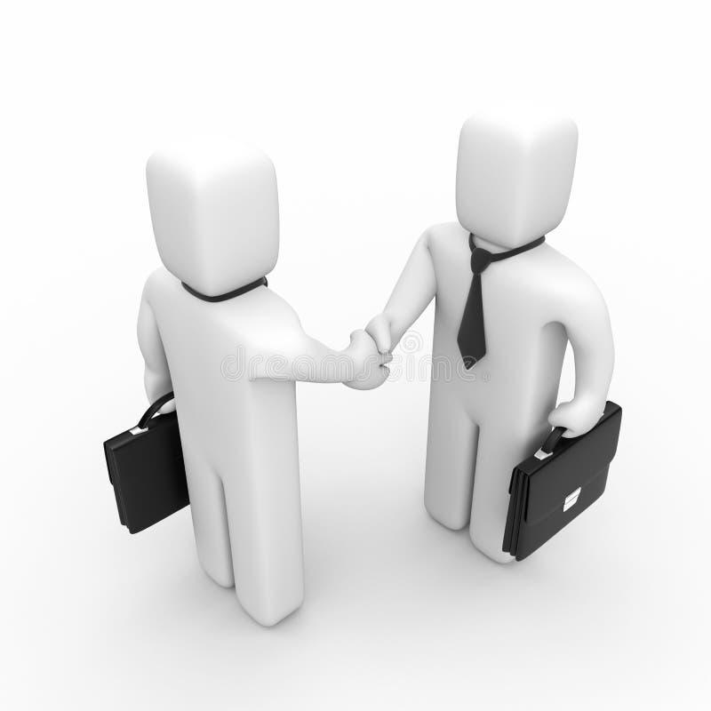 Die erfolgreiche Vereinbarung stock abbildung
