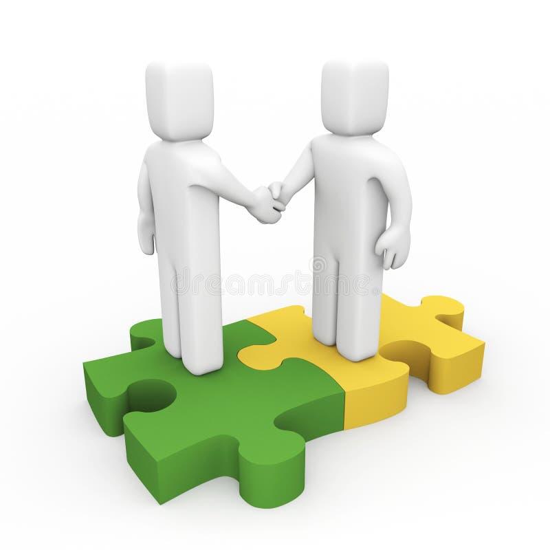 Die erfolgreiche Vereinbarung vektor abbildung
