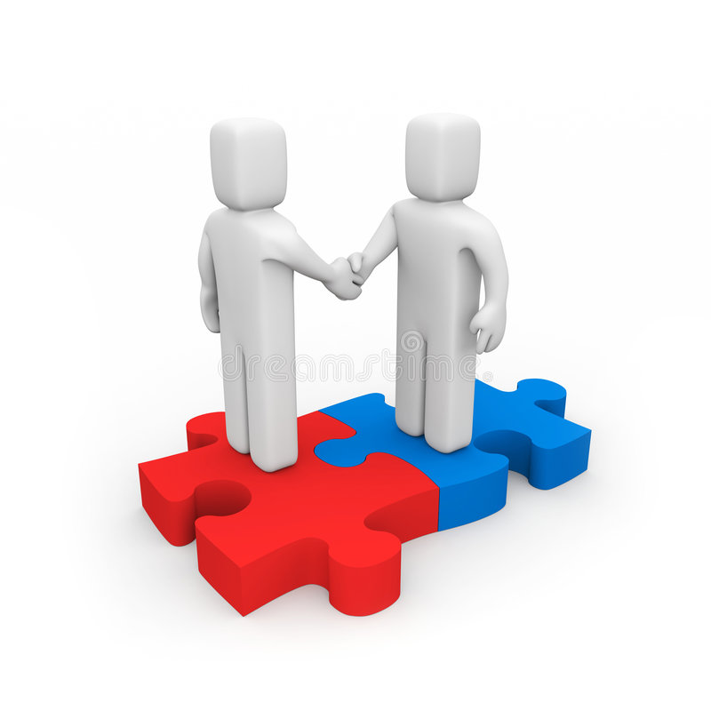 Die Erfolgreiche Vereinbarung Stockfotos