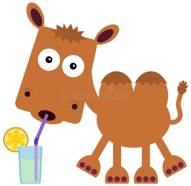Die Erfrischung des Kamels lizenzfreie abbildung