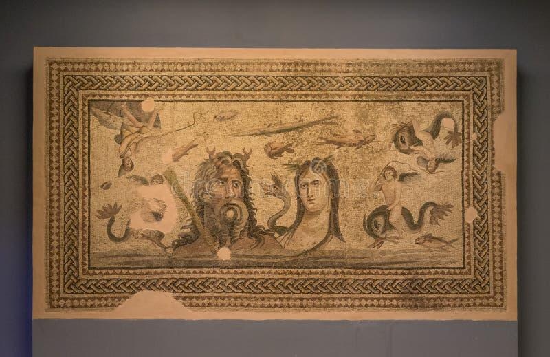 Die erstaunlichen Mosaiken von Gaziantep, die Türkei stockfotos