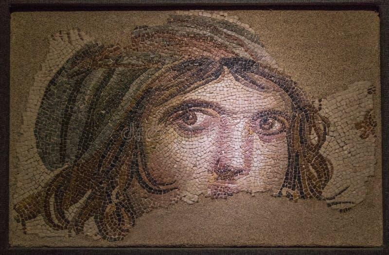 Die erstaunlichen Mosaiken von Gaziantep, die Türkei stockbilder