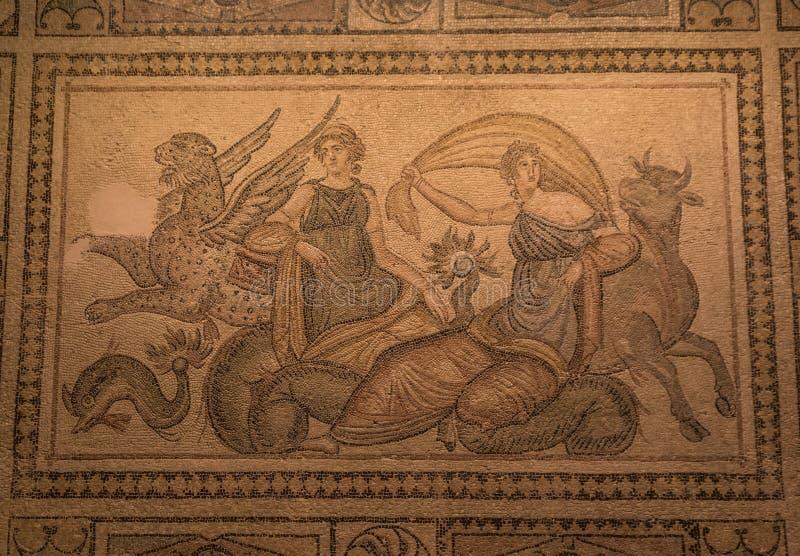 Die erstaunlichen Mosaiken von Gaziantep, die Türkei stockbild
