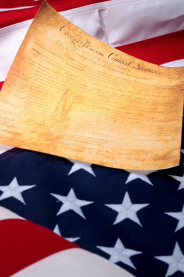 Die erste Seite der US Bill oder Rechte ein lizenzfreies stockfoto