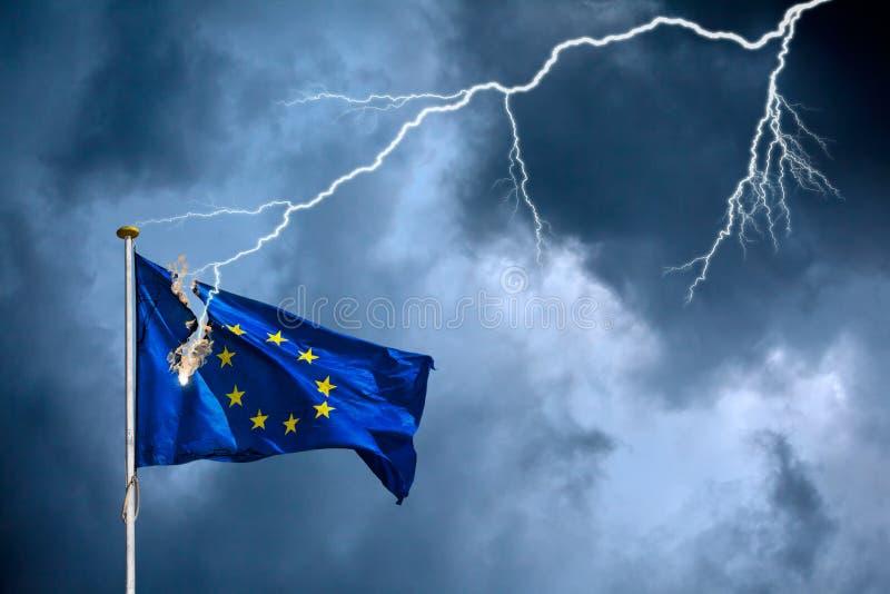 Die europäische ökonomische/politische Krise stockfotografie