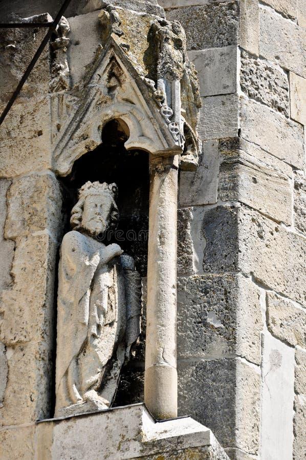 Die evangelische Kirche in Sebes stockfotos