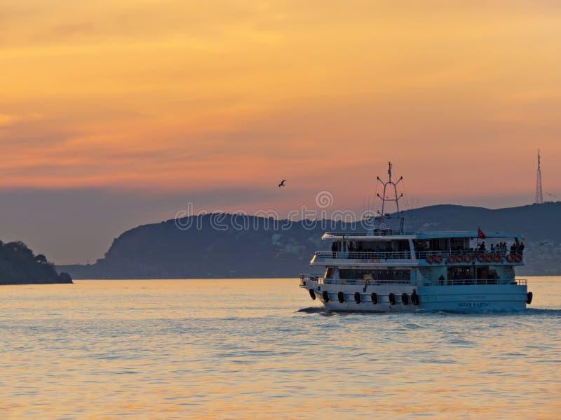 Die Fähre von der Insel Buyukada stockfoto