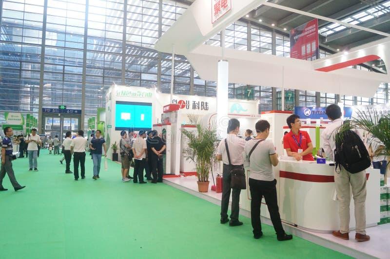 Die fünfte internationale Ladestation Shenzhens (Stapel) Technologie und Ausrüstungs-Ausstellung stockbild