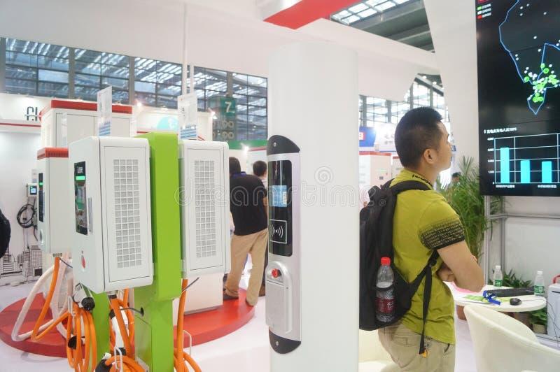 Die fünfte internationale Ladestation Shenzhens (Stapel) Technologie und Ausrüstungs-Ausstellung stockfotos