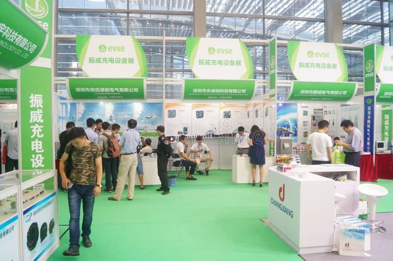 Die fünfte internationale Ladestation Shenzhens (Stapel) Technologie und Ausrüstungs-Ausstellung lizenzfreies stockfoto