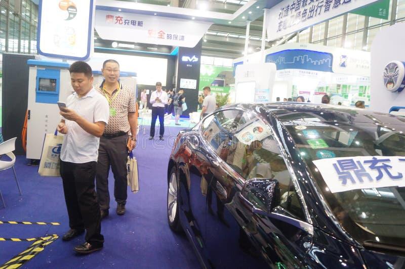 Die fünfte internationale Ladestation Shenzhens (Stapel) Technologie und Ausrüstungs-Ausstellung lizenzfreie stockfotos