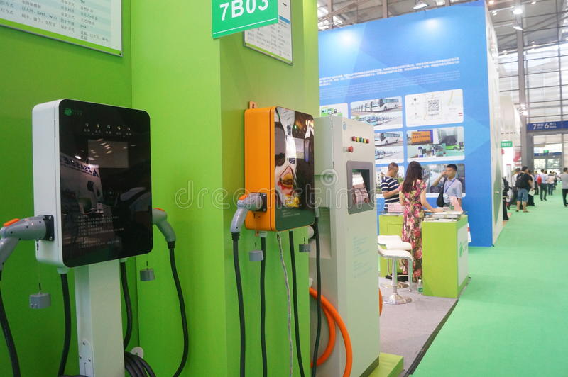 Die fünfte internationale Ladestation Shenzhens (Stapel) Technologie und Ausrüstungs-Ausstellung stockbilder
