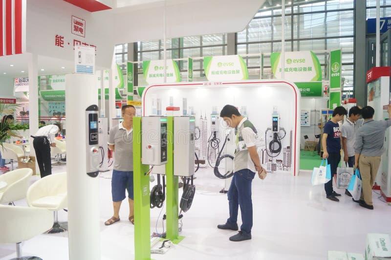 Die fünfte internationale Ladestation Shenzhens (Stapel) Technologie und Ausrüstungs-Ausstellung lizenzfreies stockbild