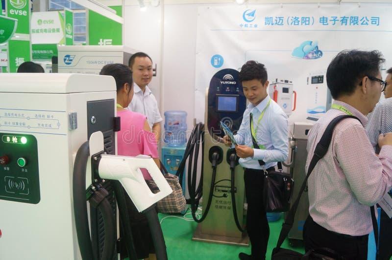 Die fünfte internationale Ladestation Shenzhens (Stapel) Technologie und Ausrüstungs-Ausstellung stockfoto