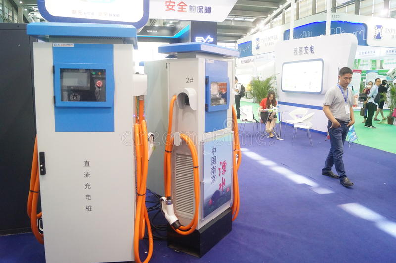 Die fünfte internationale Ladestation Shenzhens (Stapel) Technologie und Ausrüstungs-Ausstellung lizenzfreie stockbilder